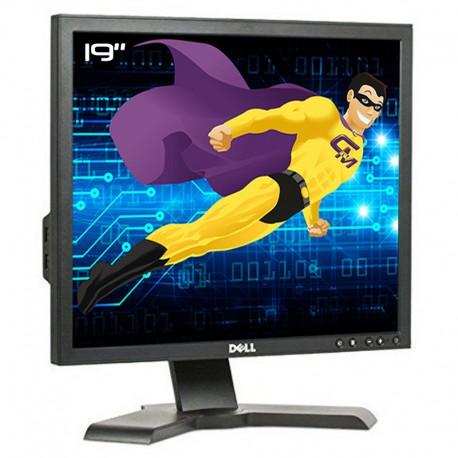 """Ecran PC 19"""" Dell 1908FPt 0D310J D310J LCD TFT VGA DVI USB 1280x1024 4:3 Noir"""