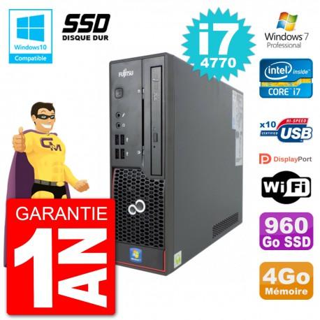 PC Fujitsu Esprimo C720 SFF i7-4770 RAM 4Go SSD 960Go Graveur DVD Wifi W7
