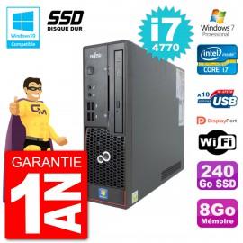 PC Fujitsu Esprimo C720 SFF i7-4770 RAM 8Go SSD 240Go Graveur DVD Wifi W7