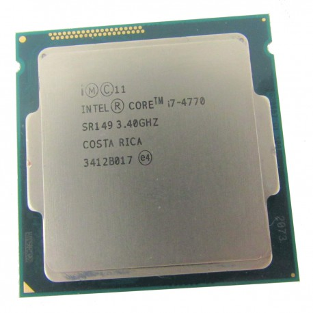 Processeur CPU Intel Core I7-4770 3.4Ghz 8Mo SR149 5GT/s FCLGA1150 Quad Core
