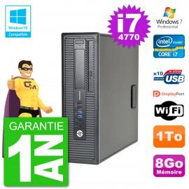 PC HP EliteDesk 800 G1 SFF i7-4770 RAM 8Go Disque 1To Graveur DVD Wifi W7