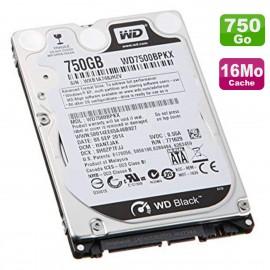 """Disque Dur 750Go SATA 2.5"""" WD Scorpio Black WD7500BPKX-80HPJT0 PC Portable 16Mo"""