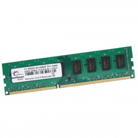 2Go RAM G.SKILL F3-10600CL9D-4GBNT DDR3 PC3-10600U 1333Mhz 2Rx8 1.5v CL9