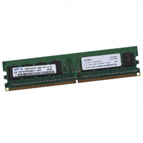 512Mo RAM Samsung M378T6553BZ3-CD5 DDR2 PC2-4200U 533Mhz 240Pin 1Rx8 1.8v CL4