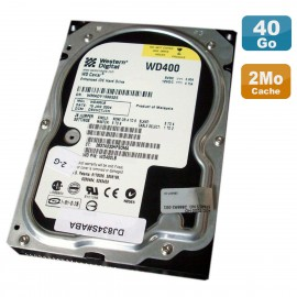 "Disque Dur 40Go 3.5"" IDE Western Digital Caviar WD400LB-07DNA2 7200RPM 2Mo"