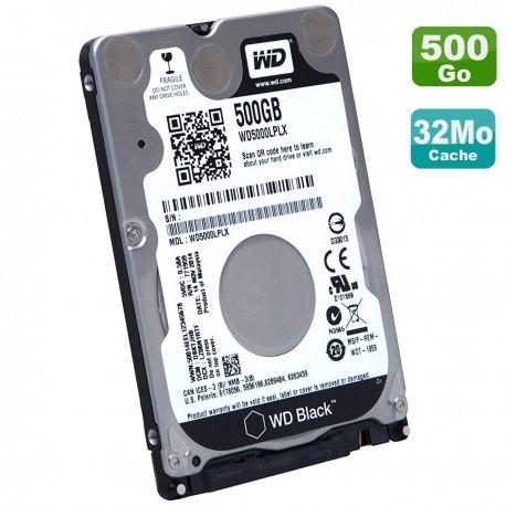 "Disque Dur 500Go SATA III 2.5"" WD Black WD5000LPLX-08ZNTT0 00FC425 SH20G63100"