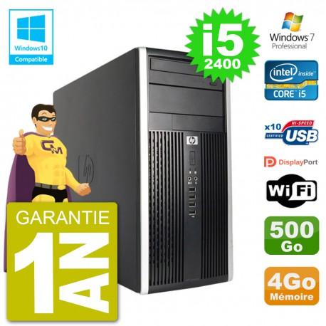 PC HP 6300 MT Intel Core i5-2400 RAM 4Go Disque 500Go Graveur DVD Wifi W7