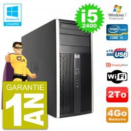 PC HP 6300 MT Intel Core i5-2400 RAM 4Go Disque Dur 2To Graveur DVD Wifi W7