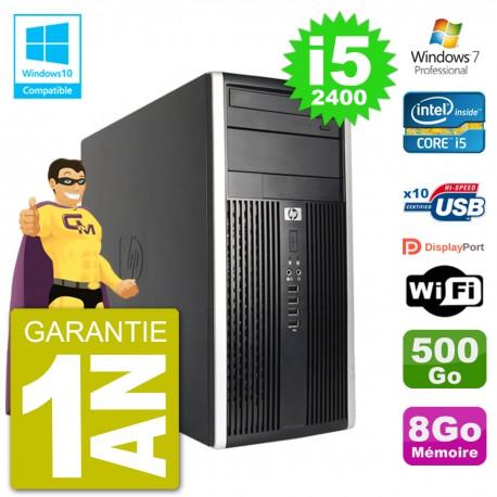 PC HP 6300 MT Intel Core i5-2400 RAM 8Go Disque 500Go Graveur DVD Wifi W7
