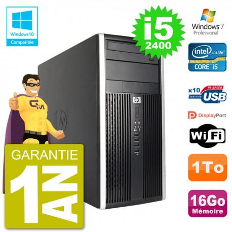 PC HP 6300 MT Intel Core i5-2400 RAM 16Go Disque 1To Graveur DVD Wifi W7