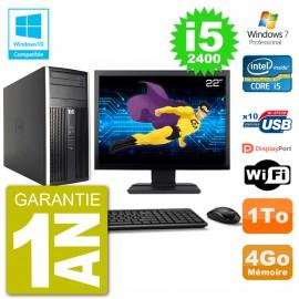 "PC HP 6300 MT Ecran 22"" Core i5-2400 RAM 4Go Disque 1To Graveur DVD Wifi W7"