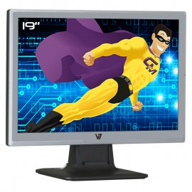 """Ecran Plat PC 19"""" V7 R19W11 J150432 VIDEOSEVEN VGA Audio 16:10 1440x900"""