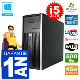 PC HP 6300 MT Intel Core i5-3470 RAM 4Go Disque 500Go Graveur DVD Wifi W7