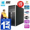 PC HP 6300 MT Intel Core i5-3470 RAM 8Go SSD 120Go Graveur DVD Wifi W7
