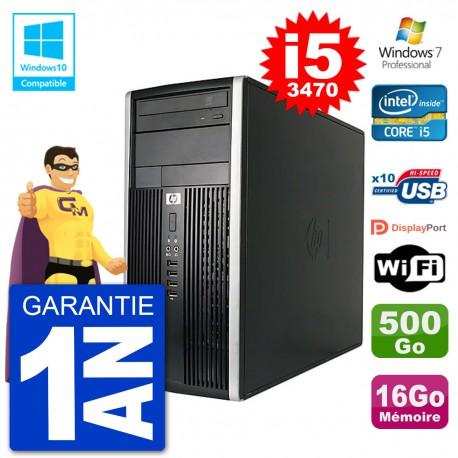 PC HP 6300 MT Intel Core i5-3470 RAM 16Go Disque 500Go Graveur DVD Wifi W7