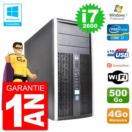 PC HP 6300 MT Intel Core i7-2600 RAM 4Go Disque 500Go Graveur DVD Wifi W7