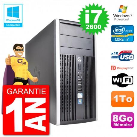 PC HP 6300 MT Intel Core i7-2600 RAM 8Go Disque Dur 1To Graveur DVD Wifi W7