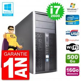 PC HP 6300 MT Intel Core i7-2600 RAM 16Go Disque 500Go Graveur DVD Wifi W7