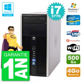 PC HP 6300 MT Intel Core i7-3770 RAM 4Go Disque 500Go Graveur DVD Wifi W7