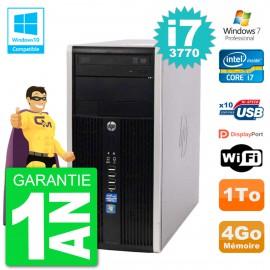 PC HP 6300 MT Intel Core i7-3770 RAM 4Go Disque Dur 1To Graveur DVD Wifi W7