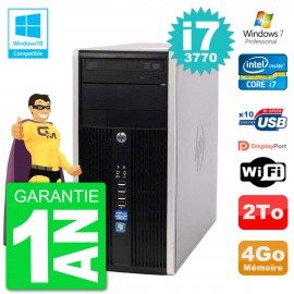 PC HP 6300 MT Intel Core i7-3770 RAM 4Go Disque Dur 2To Graveur DVD Wifi W7