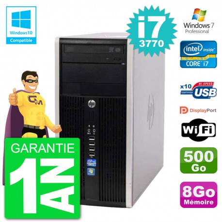 PC HP 6300 MT Intel Core i7-3770 RAM 8Go Disque 500Go Graveur DVD Wifi W7