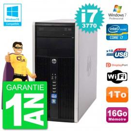 PC HP 6300 MT Intel Core i7-3770 RAM 16Go Disque 1To Graveur DVD Wifi W7