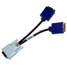 Adaptateur Doubleur HP BizLink 338285-008 DMS-59 vers Dual VGA