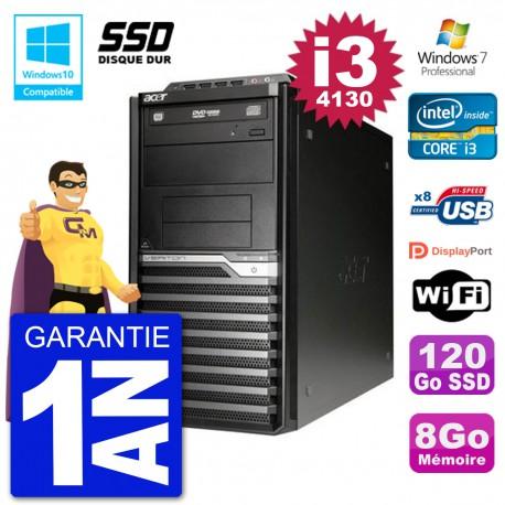 PC Acer Veriton M4630G MT i3-4130 RAM 8Go SSD 120Go Graveur DVD Wifi W7