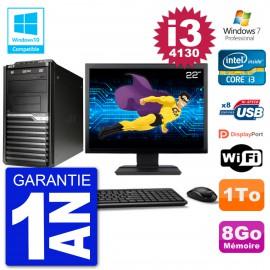 "PC Acer Veriton M4630G MT Ecran 22"" i3-4130 RAM 8Go Disque 1To DVD Wifi W7"