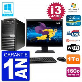 "PC Acer Veriton M4630G MT Ecran 22"" i3-4130 RAM 16Go Disque 1To DVD Wifi W7"