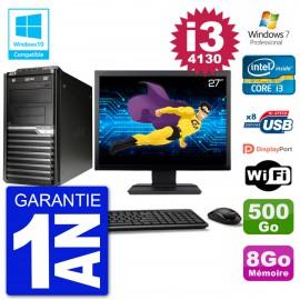 "PC Acer Veriton M4630G MT Ecran 27"" i3-4130 RAM 8Go Disque 500Go DVD Wifi W7"