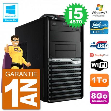 PC Acer Veriton M4630G MT i5-4570 RAM 8Go Disque Dur 1To Graveur DVD Wifi W7