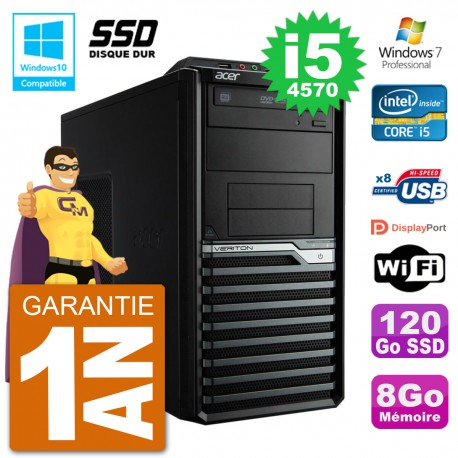 PC Acer Veriton M4630G MT i5-4570 RAM 8Go SSD 120Go Graveur DVD Wifi W7