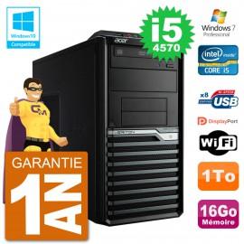 PC Acer Veriton M4630G MT i5-4570 RAM 16Go Disque 1To Graveur DVD Wifi W7