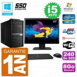 "PC Acer Veriton M4630G MT Ecran 22"" i5-4570 RAM 8Go SSD 240Go DVD Wifi W7"