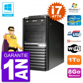 PC Acer Veriton M4630G MT i7-4770 RAM 8Go Disque Dur 1To Graveur DVD Wifi W7