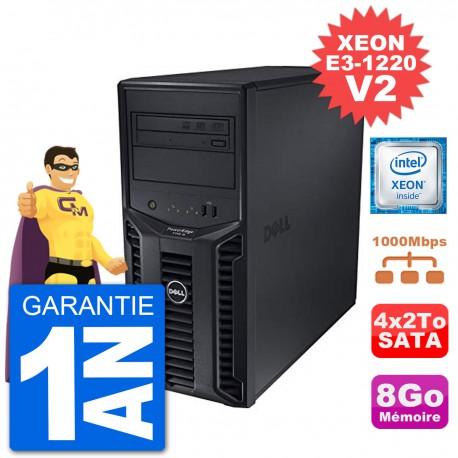 Serveur DELL PowerEdge T110 II Xeon QuadCore E3-1220 V2 8Go 4x2To Perc H200 SATA