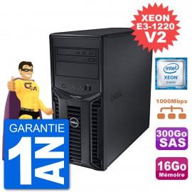 Serveur DELL PowerEdge T110 II Xeon QuadCore E3-1220 V2 16Go 300Go Perc H200 SAS