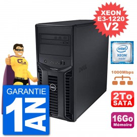 Serveur DELL PowerEdge T110 II Xeon QuadCore E3-1220 V2 16Go 2To Perc H200 SATA