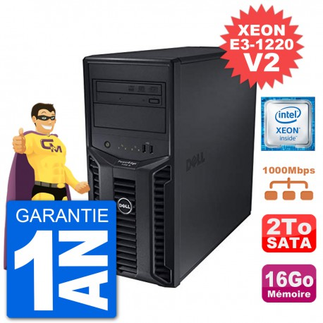 Serveur DELL PowerEdge T110 II Xeon QuadCore E3-1220 V2 16Go 2To Perc H200 SATA