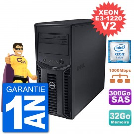 Serveur DELL PowerEdge T110 II Xeon QuadCore E3-1220 V2 32Go 300Go Perc H200 SAS