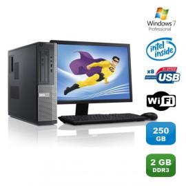 Lot PC DELL Optiplex 3010 DT G640 2.8Ghz 2Go 250Go Graveur WIFI W7 Pro +Ecran 17