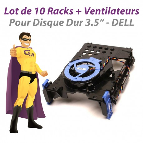 Lot x10 Racks Ventilateurs Dell 380 740 745 SFF NY290 TJ160 NH645 NJ793
