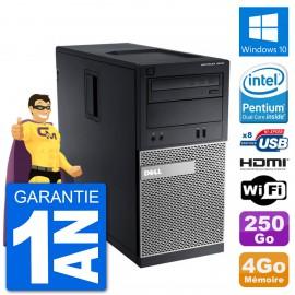 PC Dell 3010 MT G2020 RAM 4Go Disque Dur 250Go HDMI Windows 10 Wifi