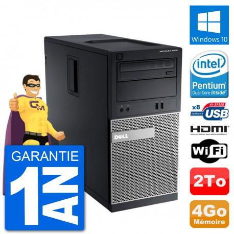 PC Dell 3010 MT G2020 RAM 4Go Disque Dur 2To HDMI Windows 10 Wifi