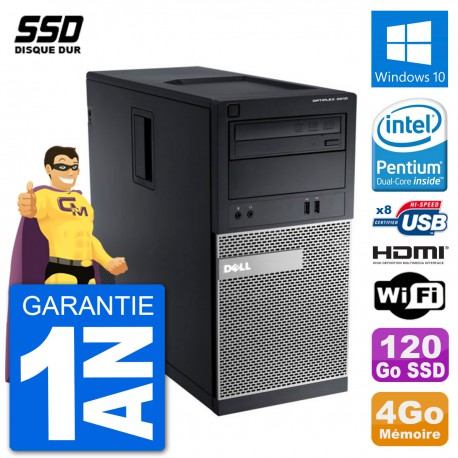 PC Dell 3010 MT G2020 RAM 4Go SSD 120Go HDMI Windows 10 Wifi