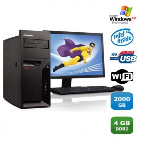 "Lot PC IBM Lenovo M55E 9389-CTO Pentium D 3Ghz 4Go 2To WIFI XP Pro + Ecran 17"""