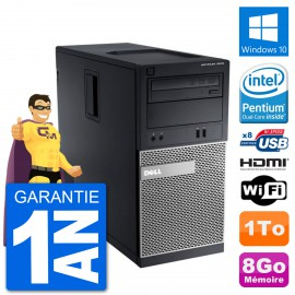 PC Dell 3010 MT G2020 RAM 8Go Disque Dur 1To HDMI Windows 10 Wifi