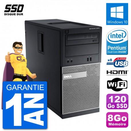 PC Dell 3010 MT G2020 RAM 8Go SSD 120Go HDMI Windows 10 Wifi